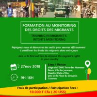Training in Migrant's Rights Monitoring – Cotonou (Benin)