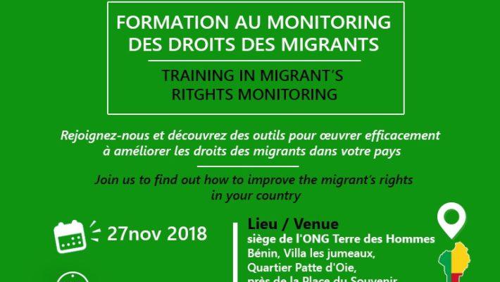 Formation au monitoring à Cotonou – Bénin