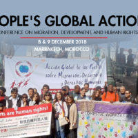 Mobilization for conferences on migration in Marrakech (Morocco)